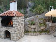 Barbecue and stone sink